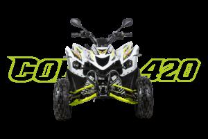 Cobra 420 Weiß - Front
